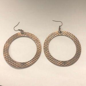 Jewelry - Brass hammered earrings